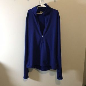 Fitted long sleeve cobalt/navy blue thermal top